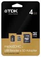 TDK microSDHC Class 4 de 4GB + USB Lector & amp; Adaptador SD opiniones, TDK microSDHC Class 4 de 4GB + USB Lector & amp; Adaptador SD precio, TDK microSDHC Class 4 de 4GB + USB Lector & amp; Adaptador SD comprar, TDK microSDHC Class 4 de 4GB + USB Lector & amp; Adaptador SD caracteristicas, TDK microSDHC Class 4 de 4GB + USB Lector & amp; Adaptador SD especificaciones, TDK microSDHC Class 4 de 4GB + USB Lector & amp; Adaptador SD Ficha tecnica, TDK microSDHC Class 4 de 4GB + USB Lector & amp; Adaptador SD Tarjeta de memoria